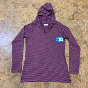 Columbia Omni-Wick Purple Hooded Shirt Womens Med